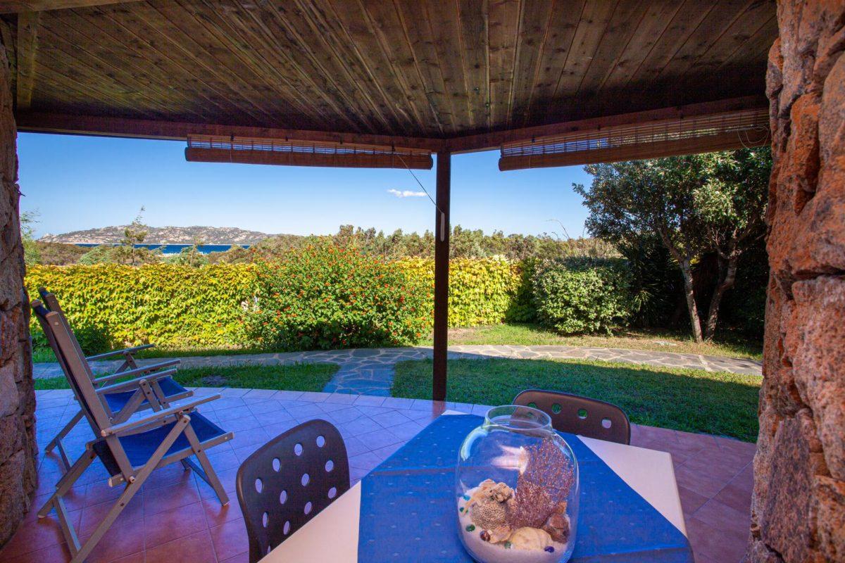 Veranda panoramica bungalow Calacavallo